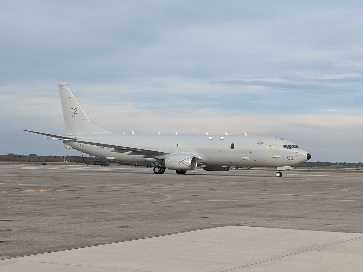 The good news continues as our second Poseidon, ZP802, proudly named 'City of Elgin', has landed in @NASJax_ and is now under @RoyalAirForce ownership. It's been a busy couple of days for the UK's MPA fleet! https://t.co/dOa4OiKzb7