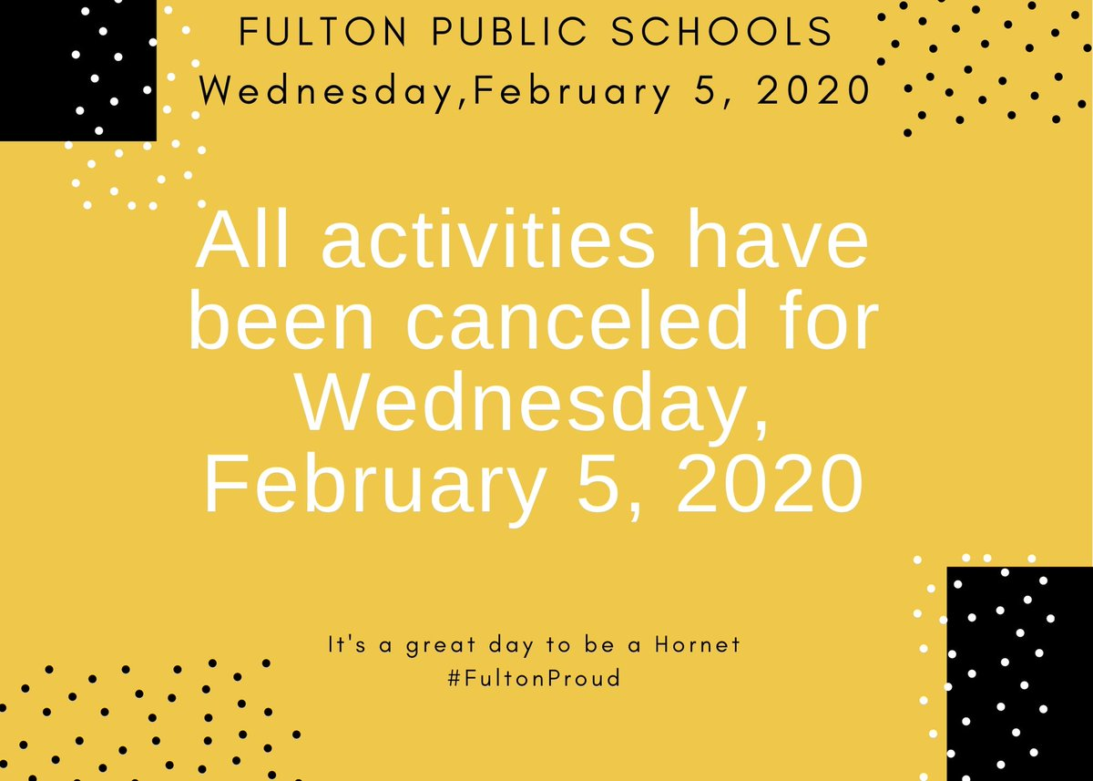 It's a great day to be a Hornet! 💛🐝💛 #FultonProud