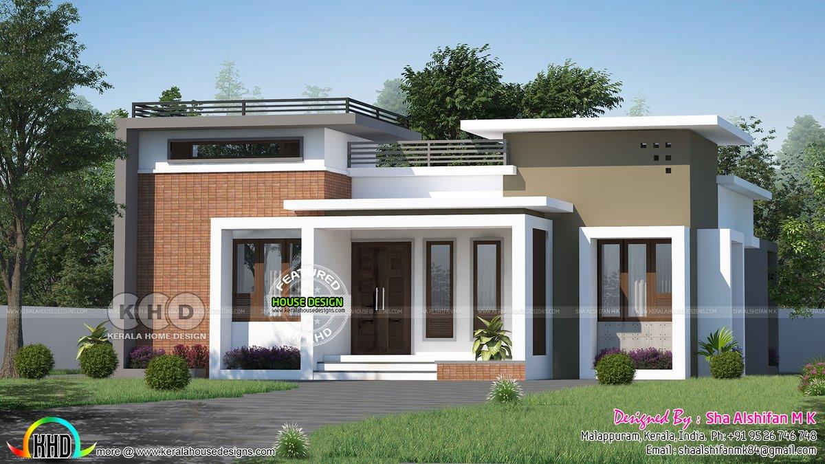 Kerala Home Design Khd On Twitter Modern Single Floor Small Budget House Https T Co Dncsdzdqzt
