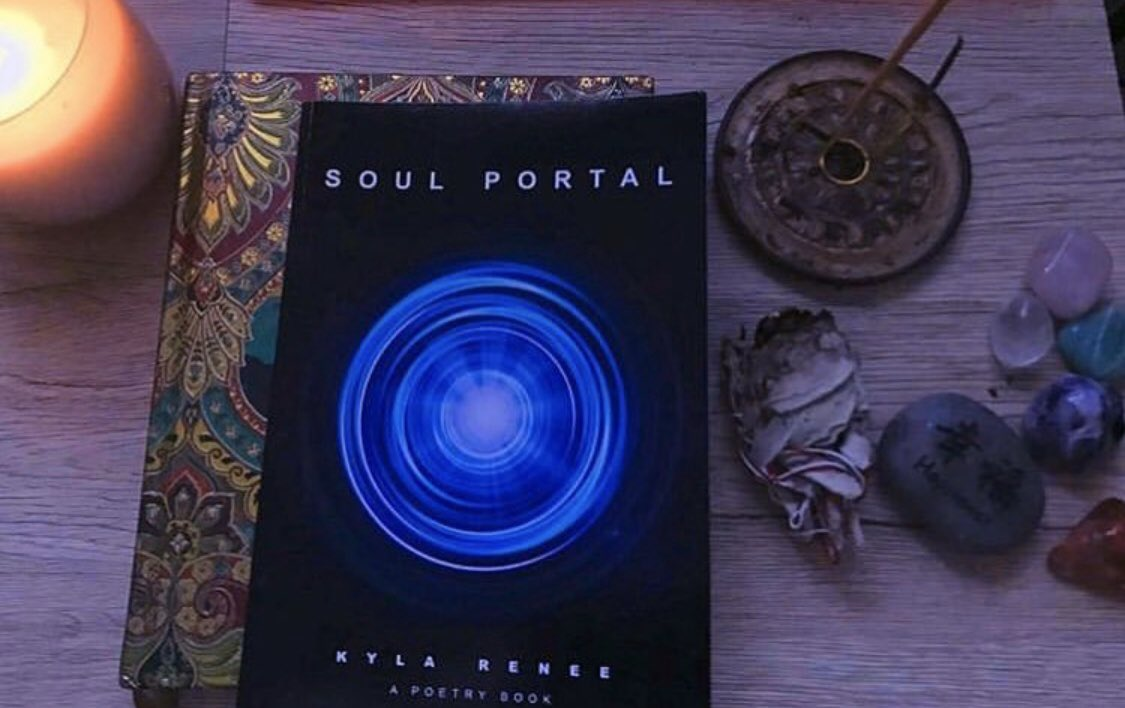 Soul Portal. A poetry book 🤍 available in the Limited Goddess Shit Kit curlyhairvegan.com