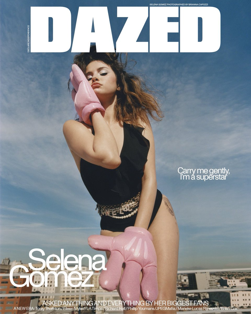 This was one of my favorite shoots I've ever done! Thank you Brianna Capozzi -a seriously badass woman, for shooting my @dazed cover! And thank you to everyone who asked a question for the interview 🤍 https://www.dazeddigital.com/music/article/47718/1/selena-gomez-rare-2020-interview-cover-story…
