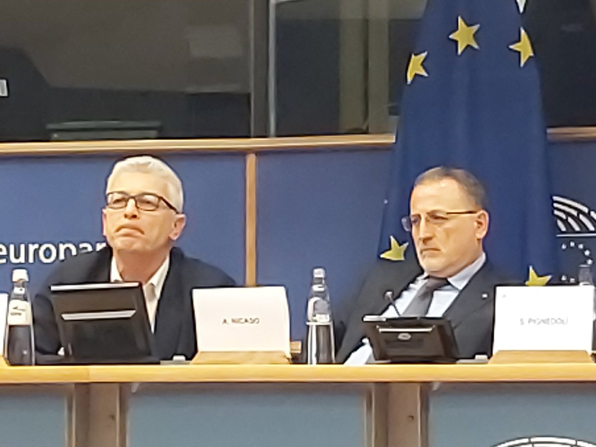 MEP @SabriPignedoli sets up  conference EU parliament #mafias as European problem: @NicolaMorra63 president national Italian antimafia commission insists on culture and financial reinforcement of @Eurojust after bright overviews of global mafia by @AntonioNicaso @federico_varese https://t.co/BQn57RYs3r
