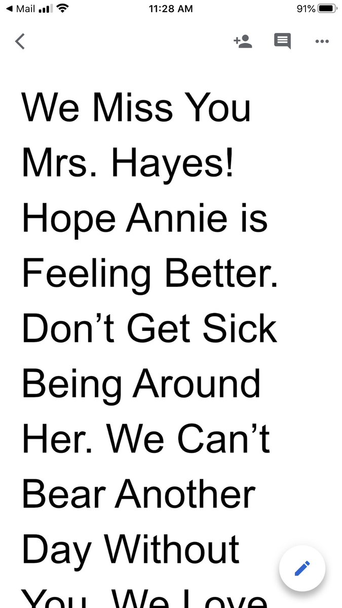 """When you are home with a sick child, getting sweet messages like this makes your day!  btw-it was titled """"Our Sadness"""" #technologyisawesome #relationshipsmatter #AIG @NewTownESpic.twitter.com/cx8SJ66yaf"""