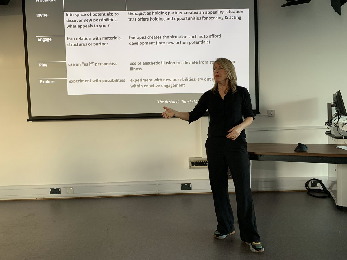 Simone Kleinlooh dance movement therapist takes us through a protocol.@UniSouthWales CPD for staff