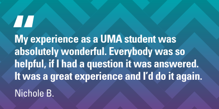 Visit http://umanow.com/Nichole  to learn about UMA programs and how you can get started. #UMAgrad #onlineeducation #alliedhealthcare pic.twitter.com/uIfn6jxubp