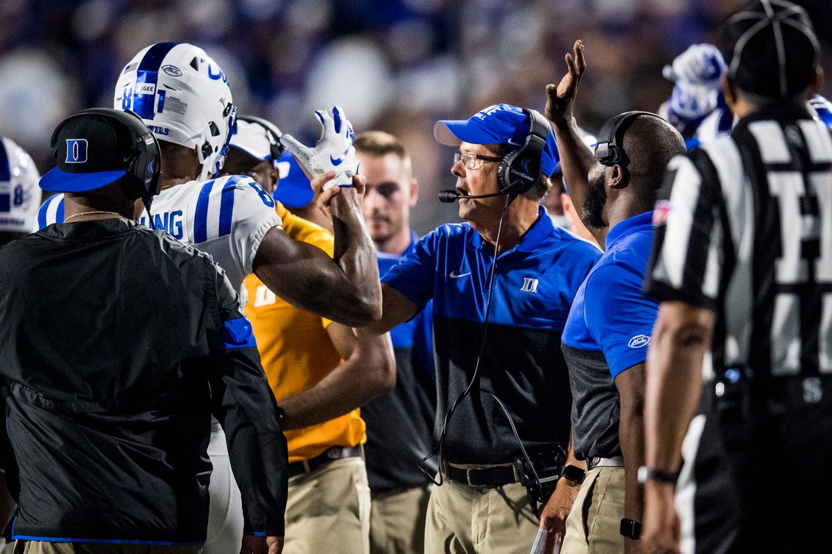 """""""I'm actually going through a transition myself. Obviously, I'm going to remain the head coach, but I'm going to take on running the offense and calling plays. I'm diving into that role. It's going to be fun for me – it's exciting.""""  🗣️ @DavidCutcliffe on calling plays in 2020"""