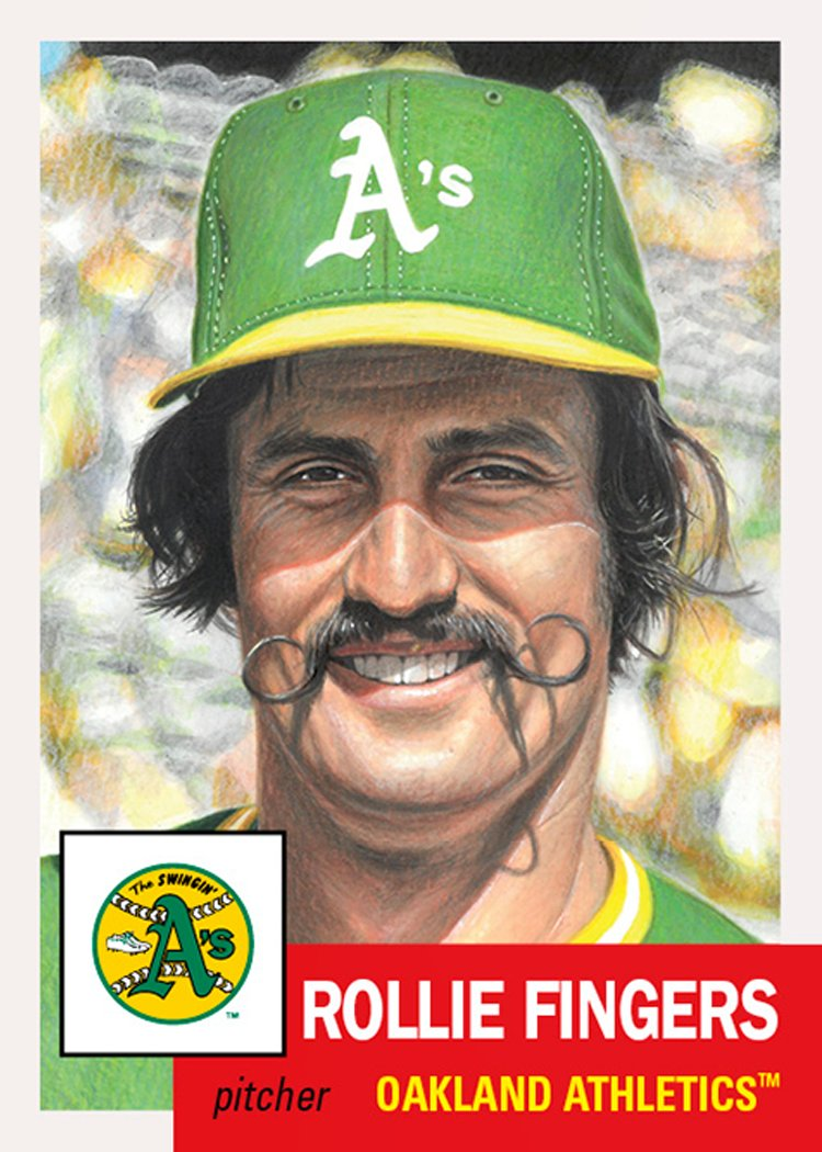 Rollie Fingers (#281) this week tied Howie Kendrick (#183) with a print run of 2,633.  Trivia question in the thread!  #ToppsLivingSet
