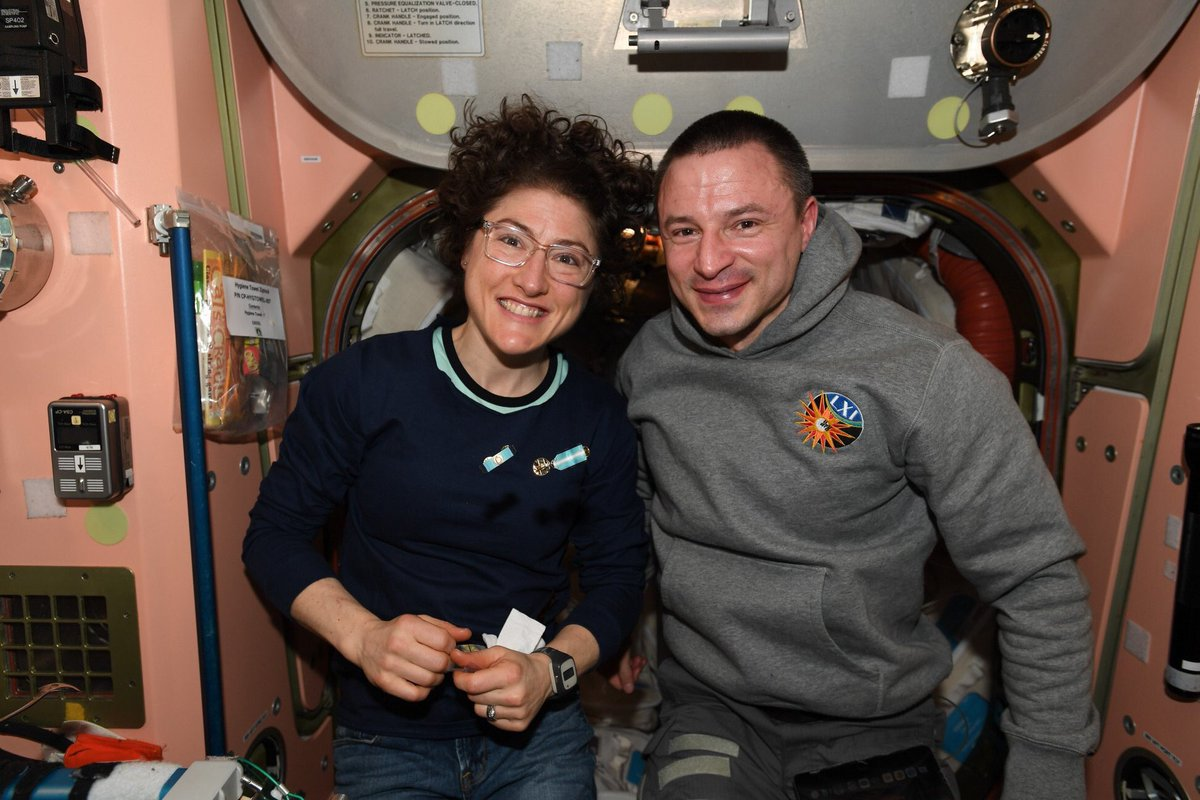 Saying goodbye to crewmates is like saying goodbye to family. It's especially tough to see my own #SoyuzMS13 leave. I wish @Astro_Christina, @astro_luca and Sasha a safe re-entry and a soft landing. Thanks for the memories, I look forward to seeing you on Earth in a few months!