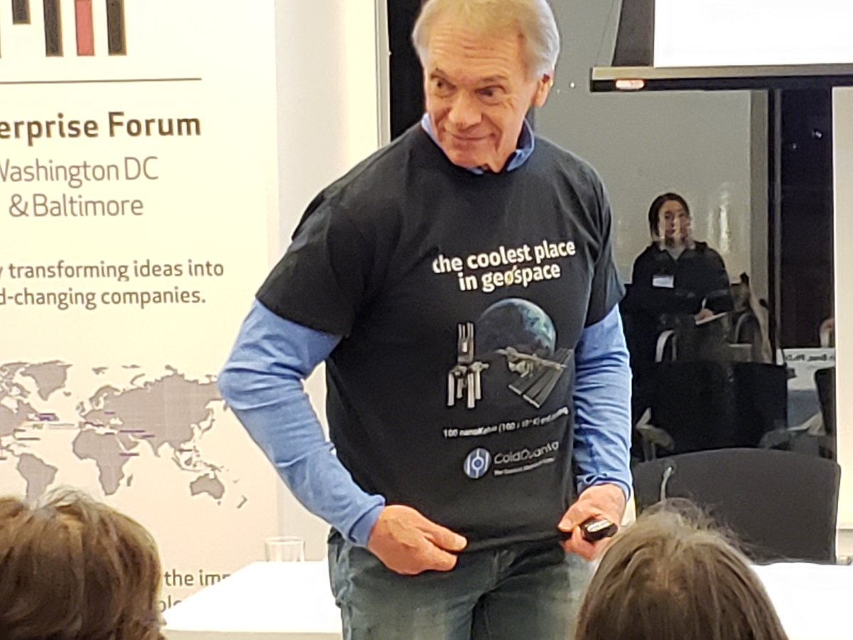 """And the best dressed award goes to...  """"The coolest place is #geospace"""" (@ColdQuanta we approve this message 👍)  Have photos to share from our #quantumcomputing event last week? Use #MICEFDCquantum.  We'll see you at the next one!  #quantum #geospace #computing #industryleader"""