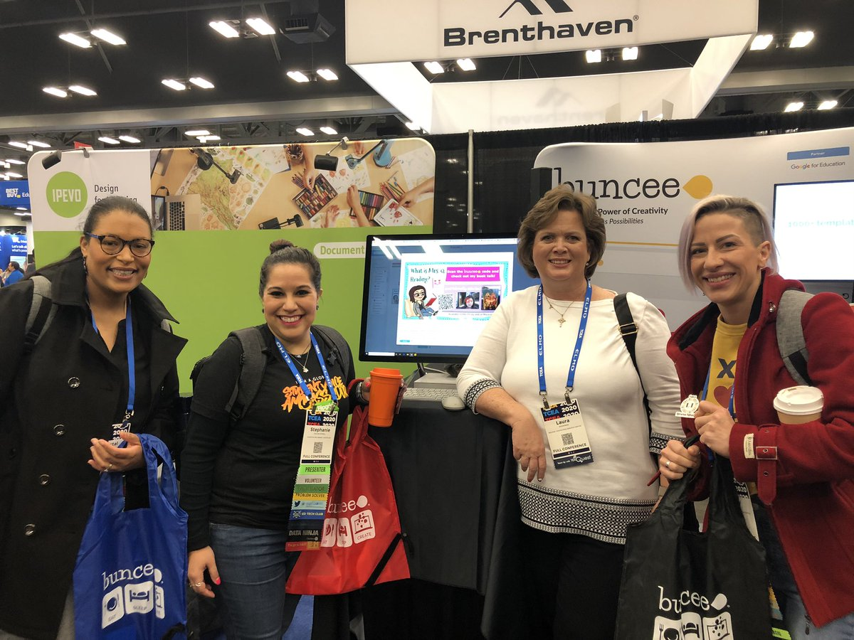 Ran in to @LibInfluencers at the @Buncee booth! @punkrocklib @seetoryreads #tcea