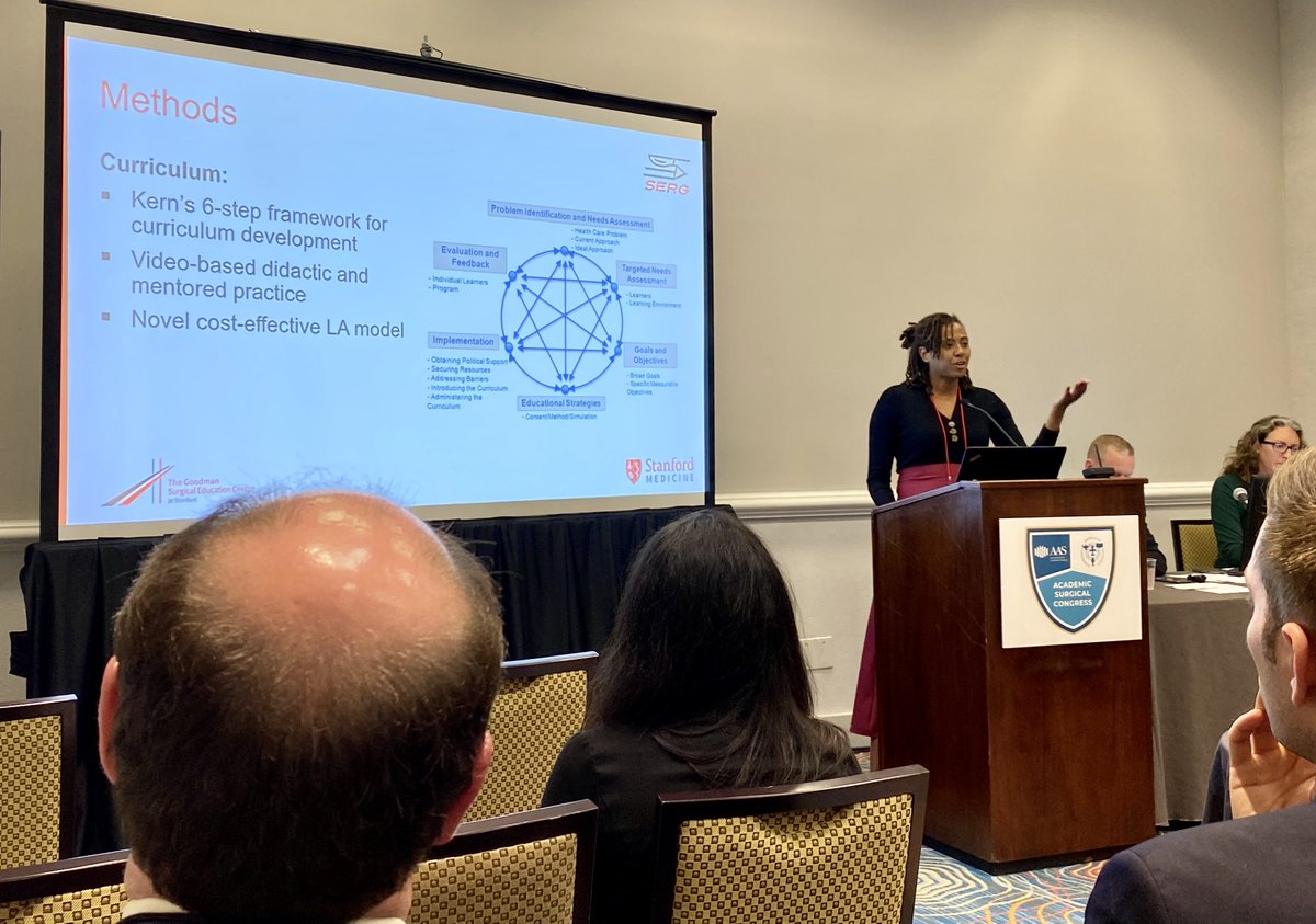 """""""Simulation need not be expensive"""" @GSEC_Surgery Fellow Dr. Tiffany Anderson devised a new curriculum to make residents more comfortable with lap appys and staplers #surgEd #ASC2020 https://t.co/uaIMKwCEbv"""