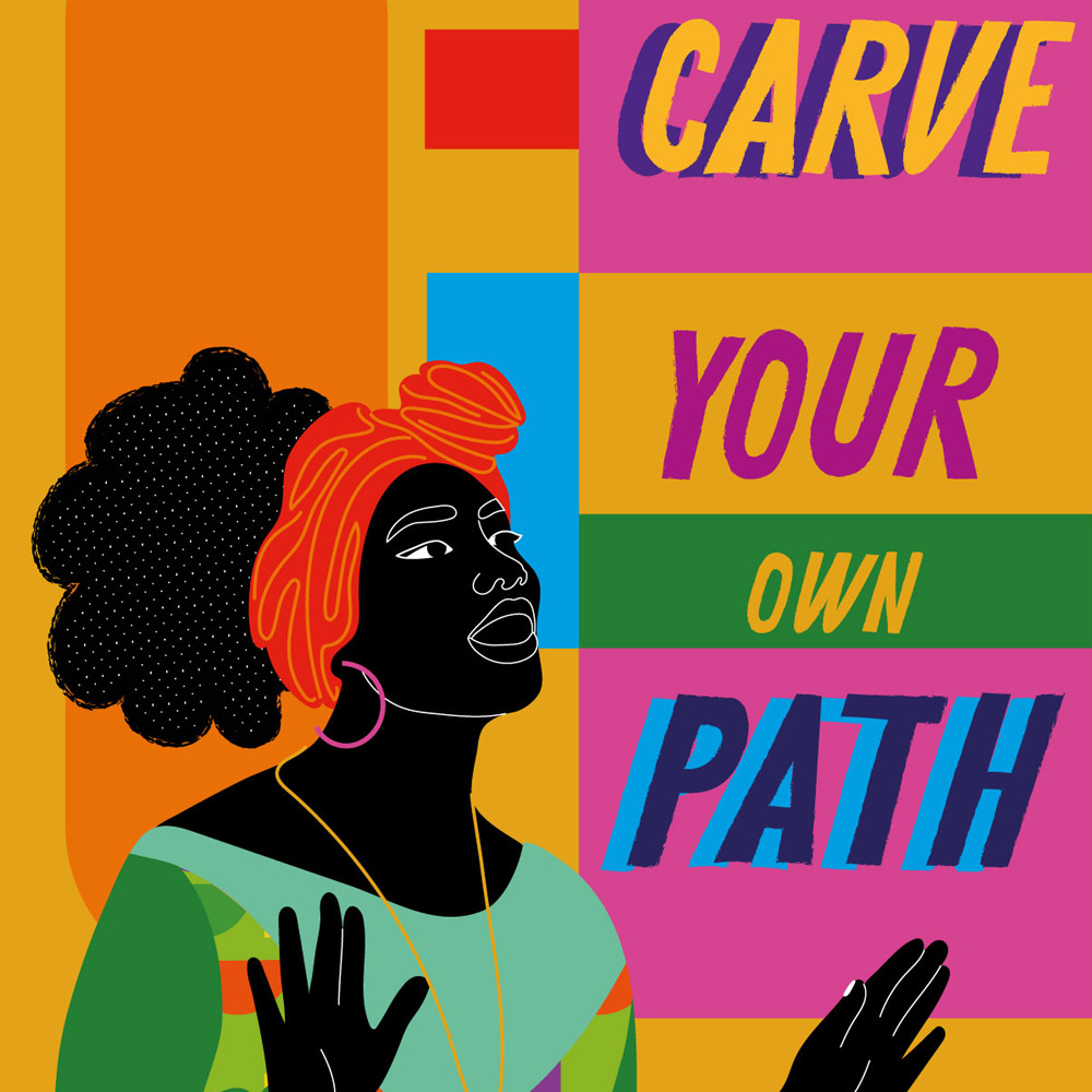 """Featured this month in our offices across the world, Aurélia Durand (@4ur3liad) describes her work as creating """"the universe I wish I had when I was growing up."""" #BlackHistoryMonth"""