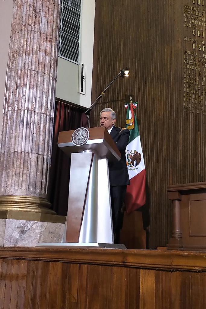 Discurso del Presidente @lopezobrador_ en el marco de la conmemoración del 103 aniversario de la Constitución. Un privilegio estar en Querétaro.