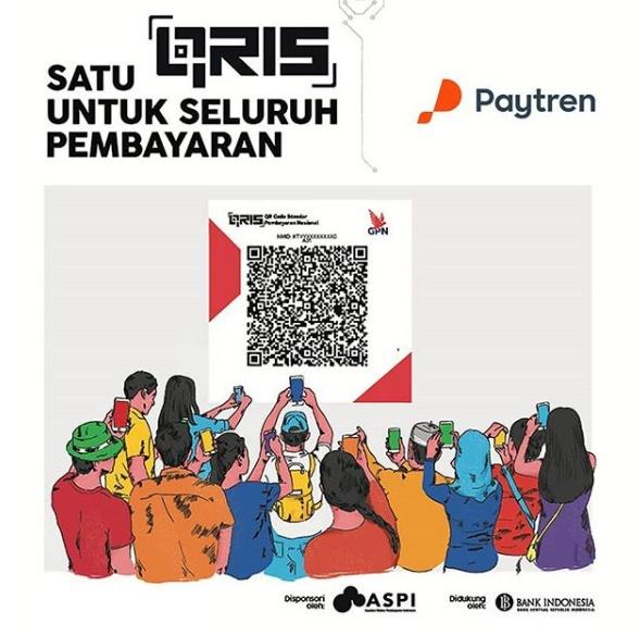 Paytreners,sdh tahu ttg #QRIS? QRIS/QuickResponse CodeIndonesia Standard adlh Code QR Nasional u/pmbyrn lwt apps #uangelektronik sprt Paytren.  Sbg dukungan #Paytren thdp program QRIS yg diadakan BI,skrg kamu bs scankode #QRIS pake #Paytren17. Nah,hidup #cashless jd mkn mdh,kan?pic.twitter.com/o3lde8Nkfg