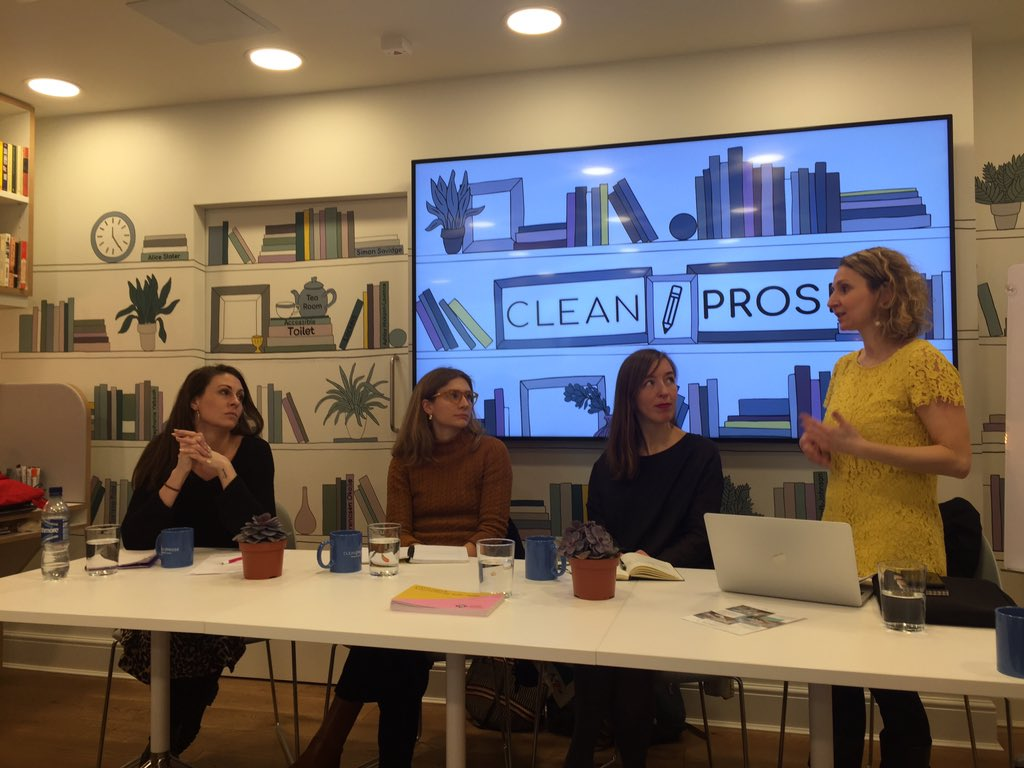 An inspiring panel that makes you think on what you really want to do in publishing, by #peirenepress #andotherstories #tandemcollective and a little reminder: Crowd matters, but never underestimate to begin with the efficient and valuable few #publishingfellowship @LitBritishpic.twitter.com/Yv5wTOWbD4 – at Clean Prose