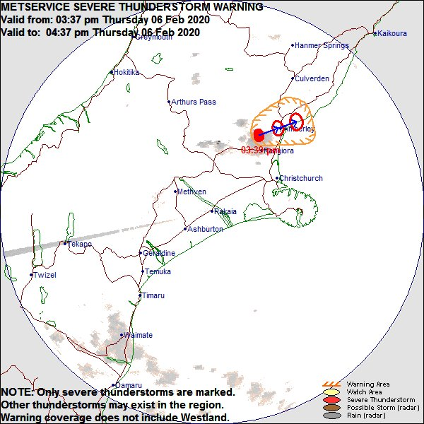 Severe Thunderstorm Warning issued for Canterbury Radar Area zpr.io/tuaxm https://t.co/JLWeQLv5Yr