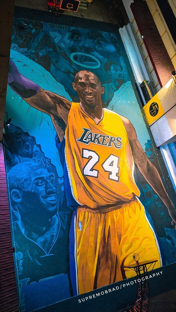 The Philippines made another Whole Court Painting as Tribute to the NBA Legend @kobebryant  !!! Amazing!!! 💜