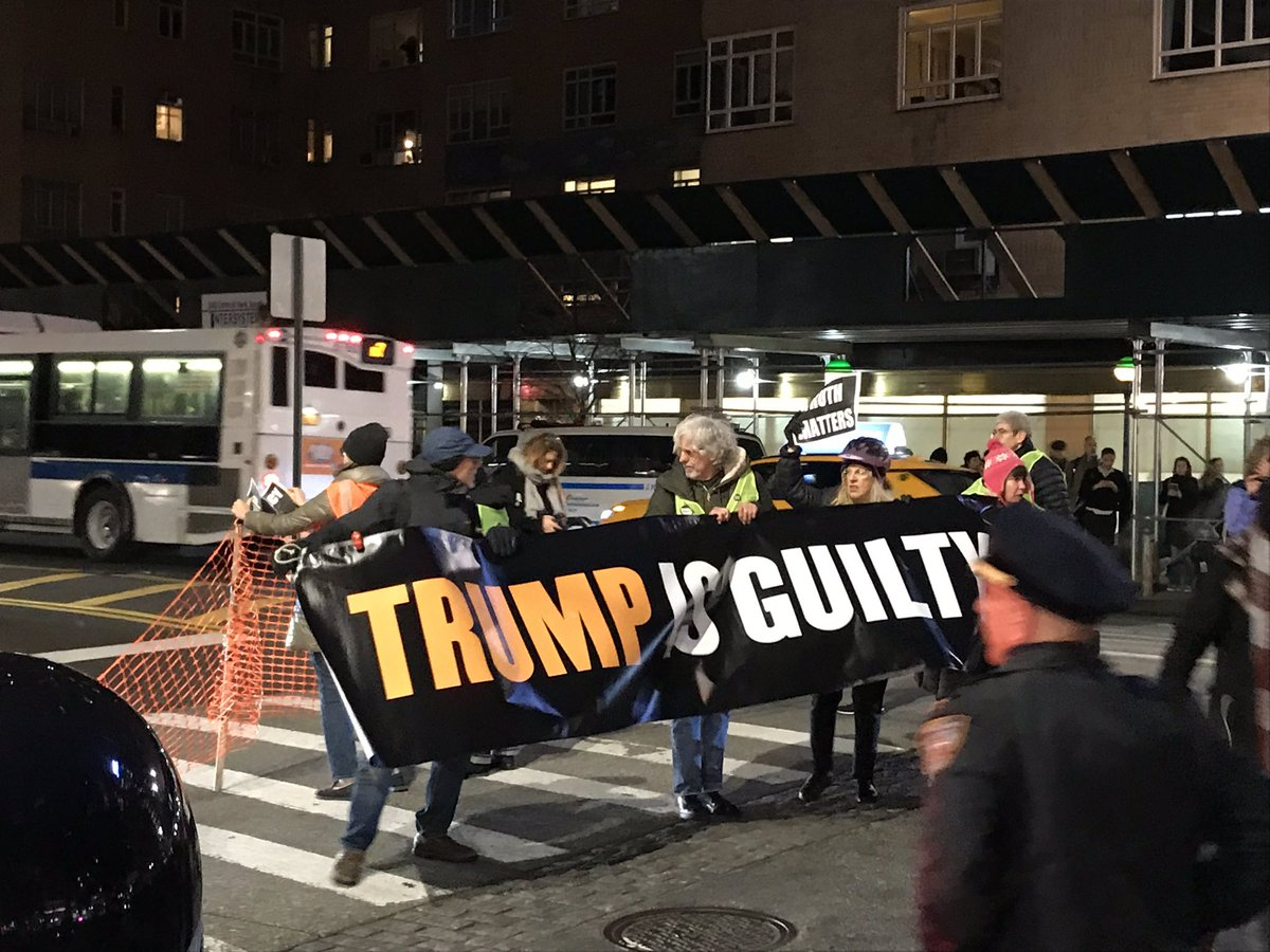 Protesters getting arrested in NYC while 1000s chant TRUMP IS GUILTY!