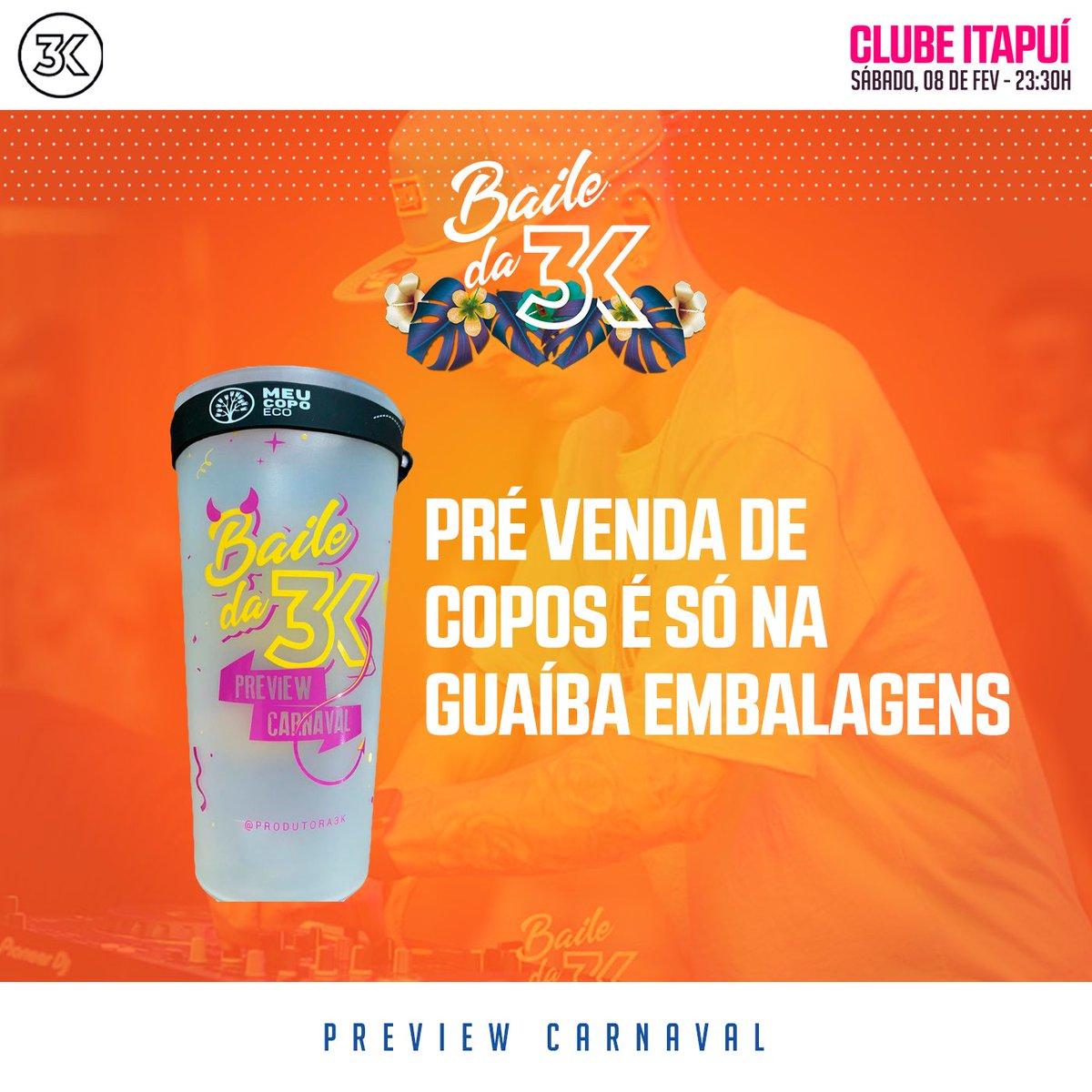 ELES CHEGARAM!🥤🎊  Agora é só correr na Guaíba Embalagens e garantir o teu copo eco p/ próxima edição do Baile! ♻️❤️   ⚠️ Vendas disponíveis a partir de quinta-feira (06/02) e em quantidade limitadíssima! Valor promocional: R$15,00 (550ml)  #MeuCopoEco #GuaíbaEmbalagens 🎊 https://t.co/NqlNG9zn43