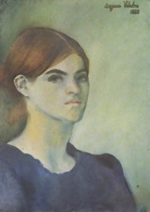 Self-Portrait, 1883 https://www.wikiart.org/en/suzanne-valadon/self-portrait-1883… #suzannevaladon #valadon