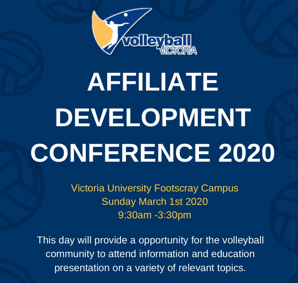Very excited to be presenting at this years development #conference with @volleyballvictoria    #volleyball #sportscoaching #playerdevelopment #victoriauniversity #firstyearcollege #highperformancehabits #highperformancepic.twitter.com/iJVSXS6Zff
