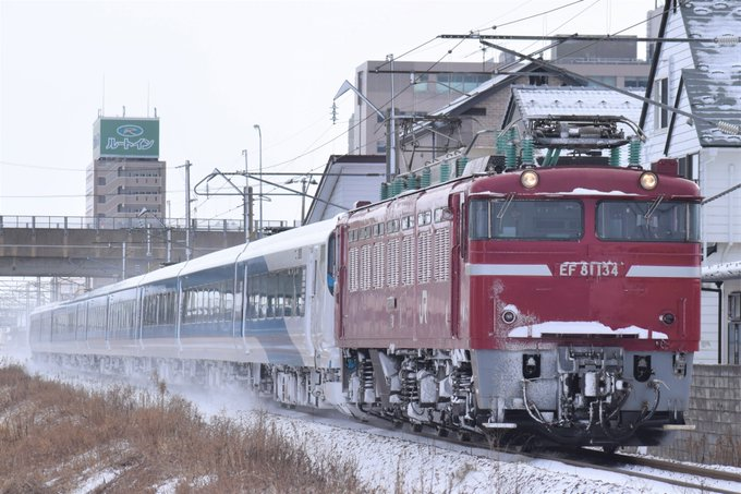 【EF81-134牽引】E257系2000番台NA-07編成 AT出場回送が行われる