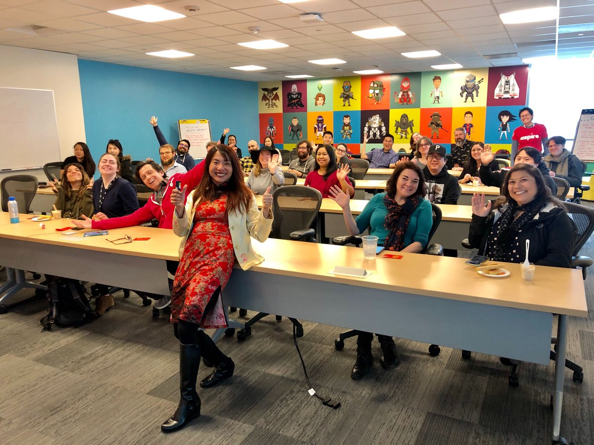 Last week at our global HQ, the ASPIRE Employee Resource Group helped us celebrate #LunarNewYear. The festivities began with a presentation for EA employees where they learned about LNY traditions, led by Senior External Development Artist, Shiew. #WeAreEA
