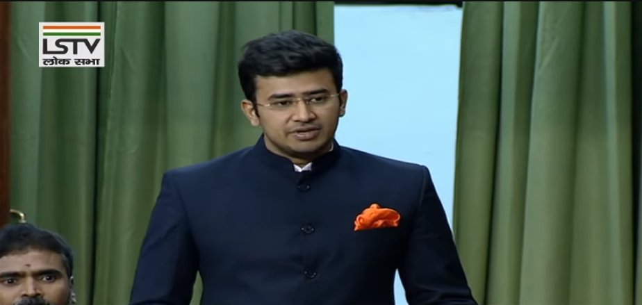 BJP MP Tejasvi Surya in Lok Sabha yesterday: What is happening today in Delhi's Shaheen Bagh is a stark reminder that if the majority of this country is not vigilant, the patriotic Indians do not stand up to this, the days of Mughal Raj coming back to Delhi are not far away.