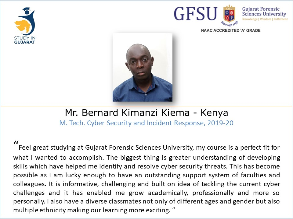 A message from Kenyan Student of @GujaratForensic Sciences University on the occasion of @StudyinGujarat Campaign in Africa during 13th to 25th Feb 2020 @IndiainKenya