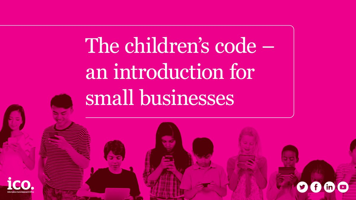 We've developed a five step introduction to help businesses conform with the Children's Code. Read more here: ow.ly/MUY450y2dmO #ukbizlunch