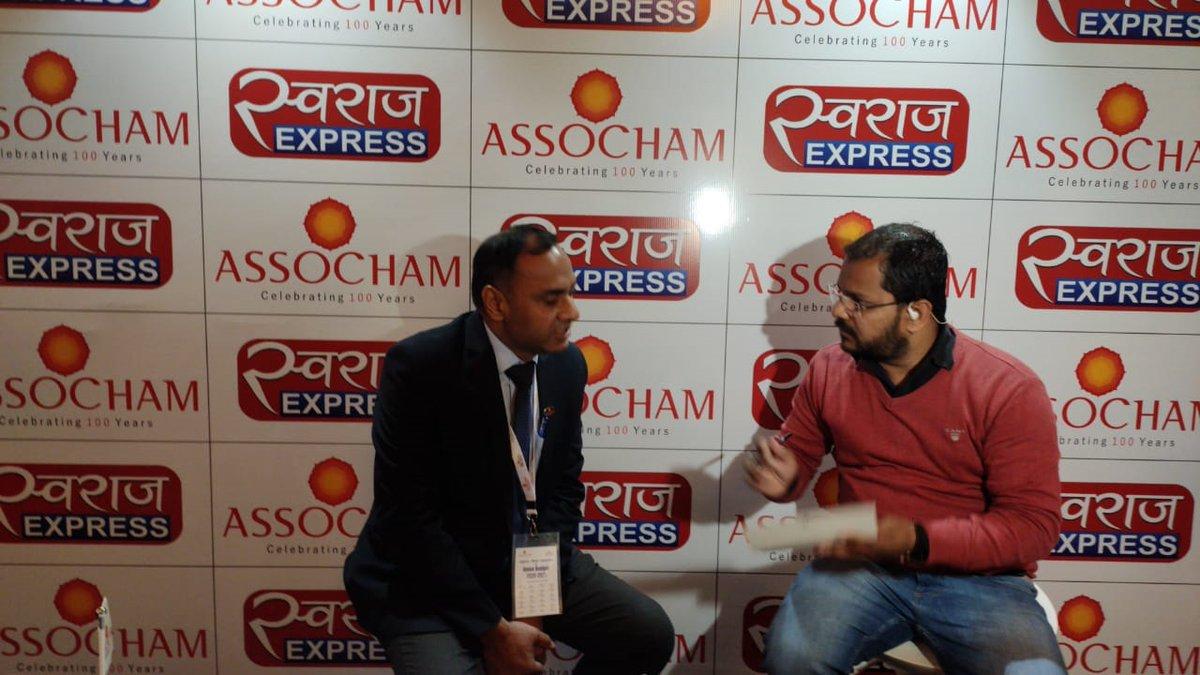 Mr. Ashish Agrawal speaking with media on startups, MSME in @Assocham @budget meet. https://t.co/sl5Jb20QJC