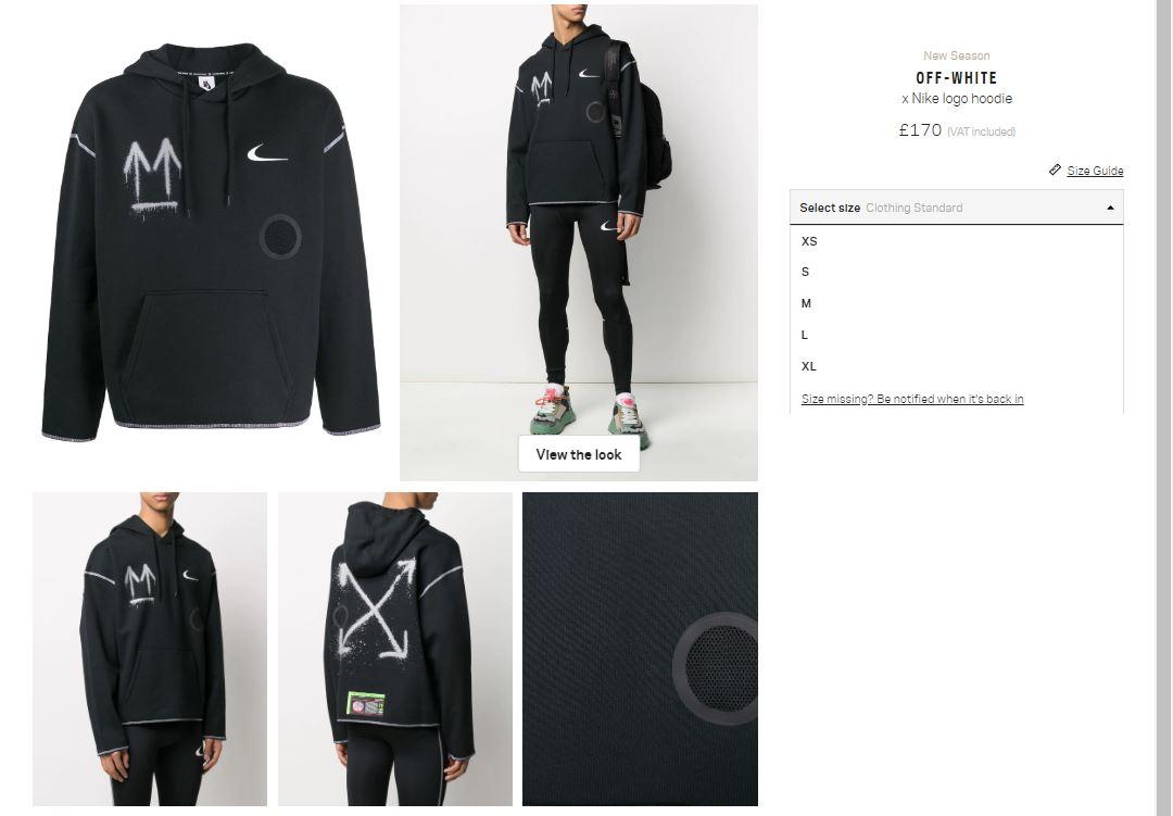 off white x nike hoodie