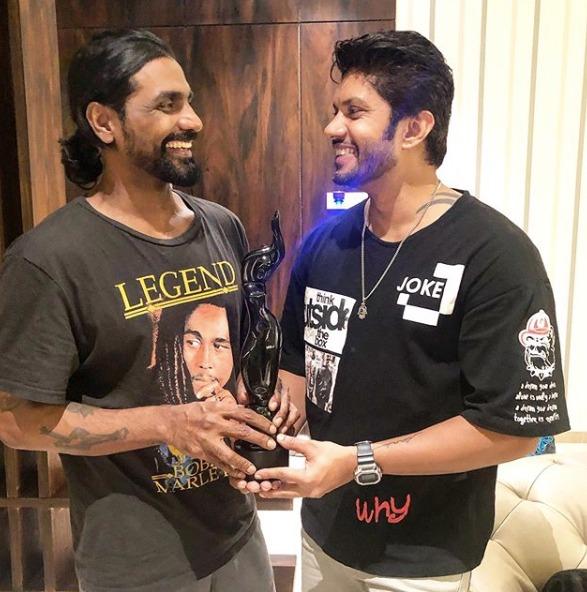 #SushantPujari shares a candid picture with @remodsouza congratulating him on his Filmfare win