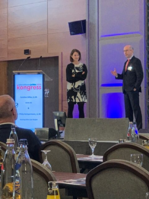 Gemeinsam mit Caroline Gilles spricht Dr. Philip Kempermann auf dem unternehmensjuristenkongress zu Kooperationsmodellen im Lichte des Datenschutzes. @diruj_digital https://t.co/VTyYIG0Ibs