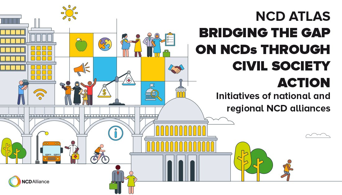 The #NCDatlas 2020 is just one of many materials that well be launching 🚀 at #NCDAF2020. It updates the status of national & regional NCD alliances & surveys their views on Bridging the Gap. See list of launches, and more, in our #SocialMedia Toolkit 👉🏽ncdalliance.org/resources/NCDA…