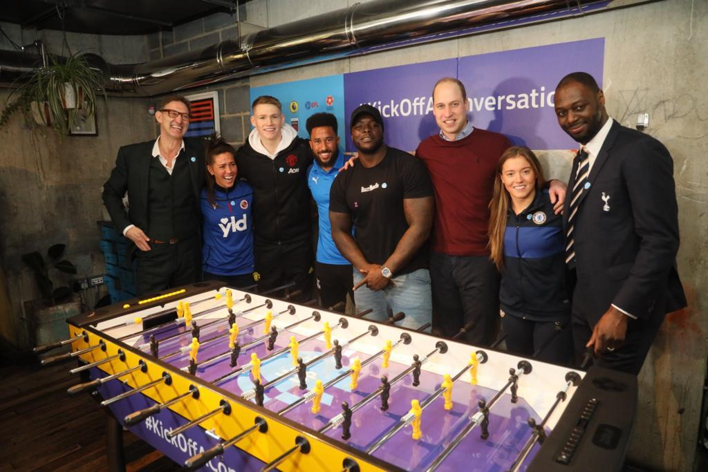Great to see @England stars past and present join The Duke of Cambridge and others to launch the #HeadsUp Weekends! Its also #TimeToTalk Day, so lets #KickOffAConversation.