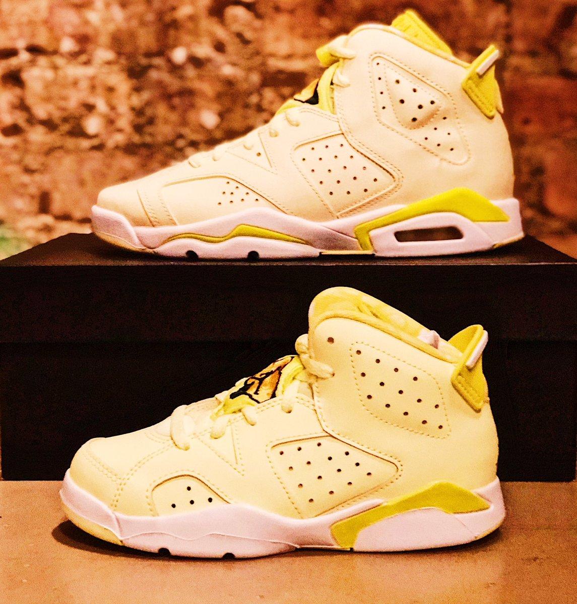 Jordan 6 Retro Dynamic Yellow Floral (GA) release today @NBASTORE NYC!