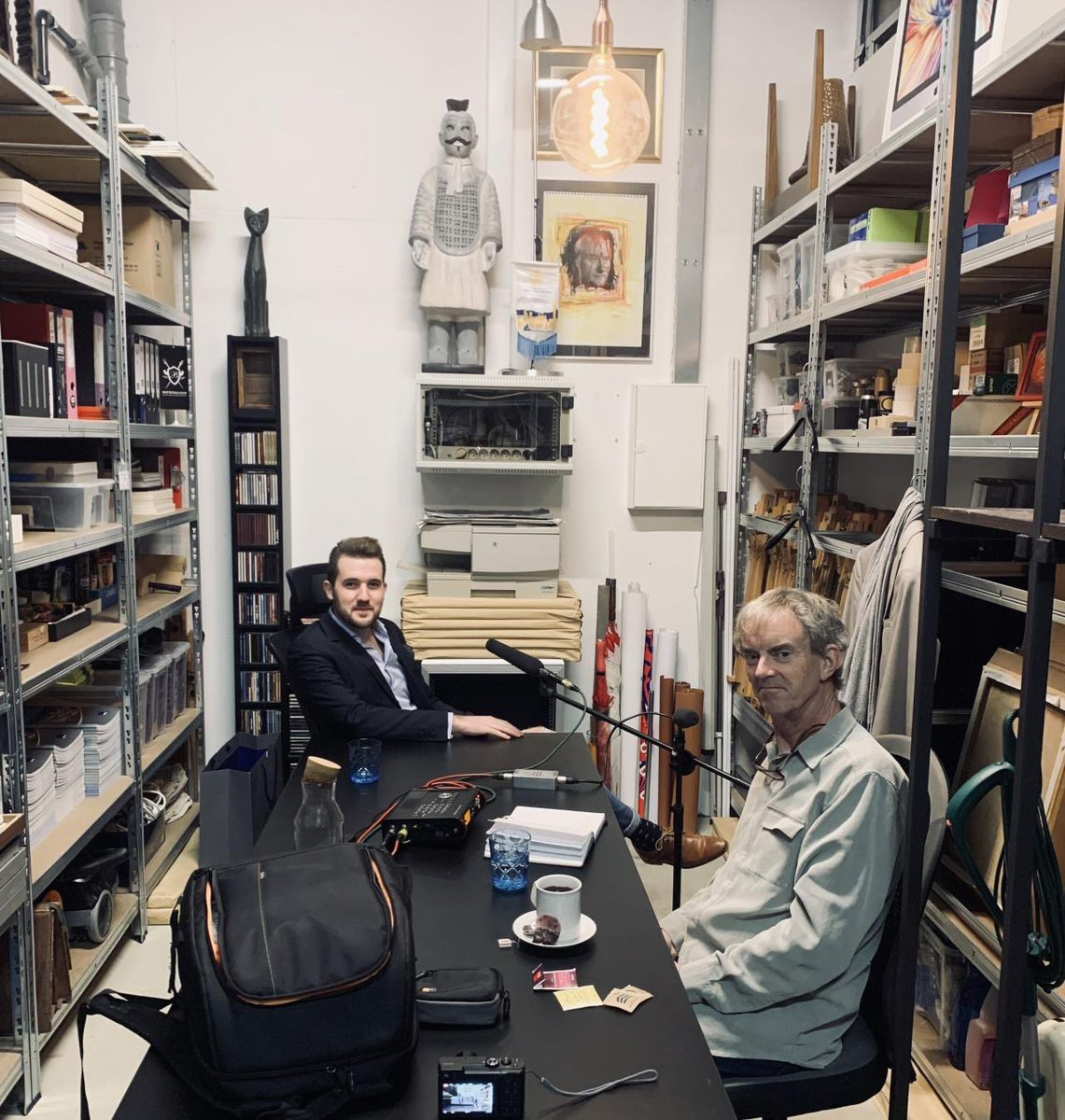 http://www.aamicorporation.com  / Today we were visited by Mr. Chris Wherry from United Kingdom, Programme Moderator at Radio Slovenia International and Sound trainer at ZeLIG. We made an interview about art connecting with business and AAMI Future. #aami #chriswherry #art #btccity pic.twitter.com/HQa4x5jzjF
