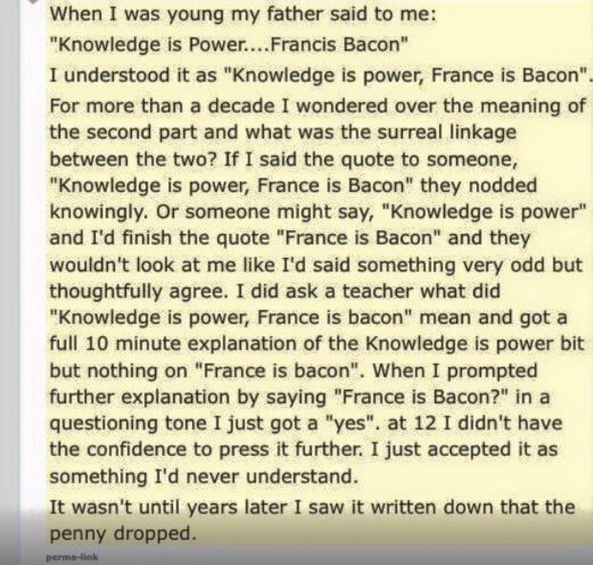 @mental_floss Reminds me of this, though not a song. France is bacon?
