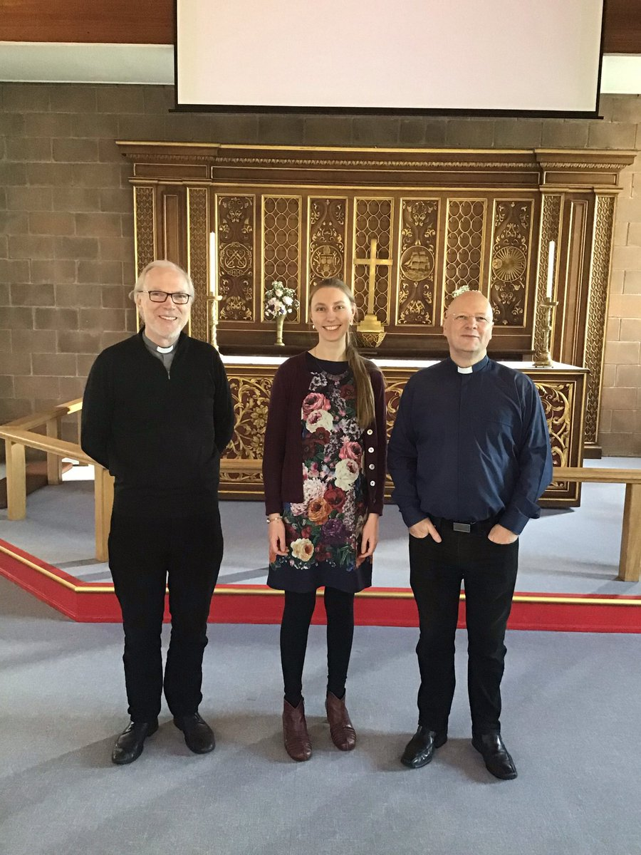 Rev'd Paul (right) welcoming Sammi and the generous giving team at St.Nicholas today - #exploringtogether #DioceseOfYorkpic.twitter.com/24Y5l6VKJZ