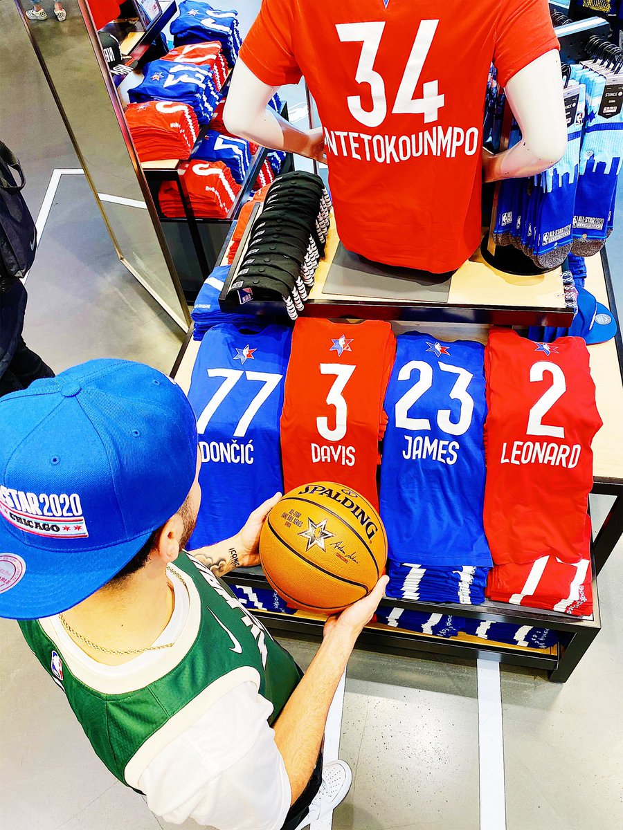Decisions...Decisions...  What 2020 @NBAAllStar gear are YOU picking up?  #NBAStoreNYC