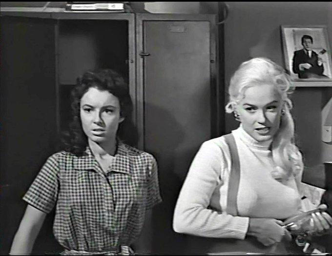 Feb. 6 GIGI PERREAU, 1941 and MAMIE VAN DOREN, 1938 in GIRL\S TOWN, 1959. Happy Birthday!