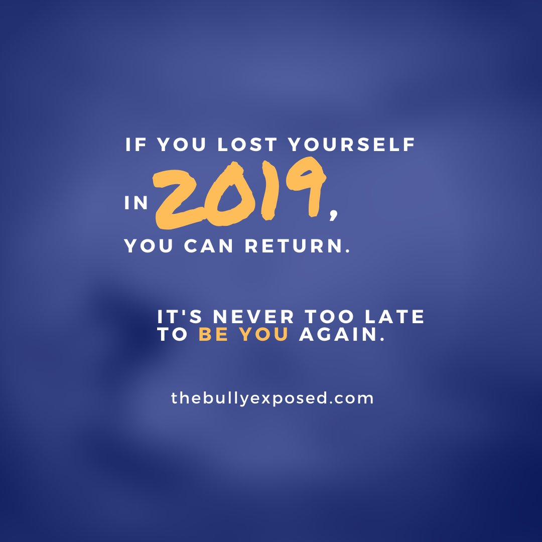 If you lost yourself in 2019, you can return. It's never too late to BE YOU again. –Brett Culp, filmmaker Follow @thebullyexposed & put an end to bullying together  #endbullying #stopcyberbullying #stopworkplacebullying #thebullyexposed #bullygram #inspire14 #cometogether2019 #mepic.twitter.com/9E5nX1NryN