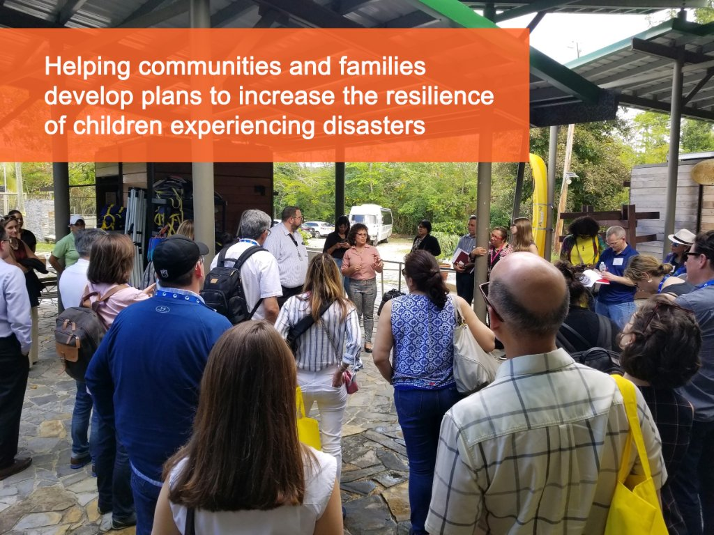 Humbled to learn from @HumacaoORE @proyectopeces @DeptSaludPR, our RCRC Community Resilience Coalition partners in Puerto Rico, about post-Maria recovery & ongoing needs of their community to build resilience & systems of preparedness for children @columbia_ncdp @USCCFBiz4Good https://t.co/WcoonPFqtB
