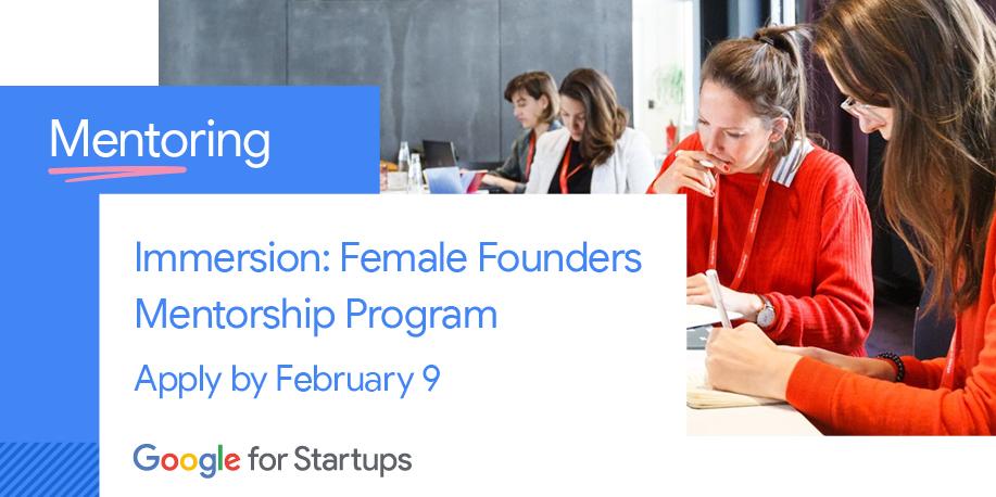 [Sponsored] Google for Startups Immersion: Female Founders Mentorship Program Berlin 2020 – Apply now!    https://t.co/93R9ucYky8  #googleforstartups #femalefounders #mentorship https://t.co/9HR8QM5NIk