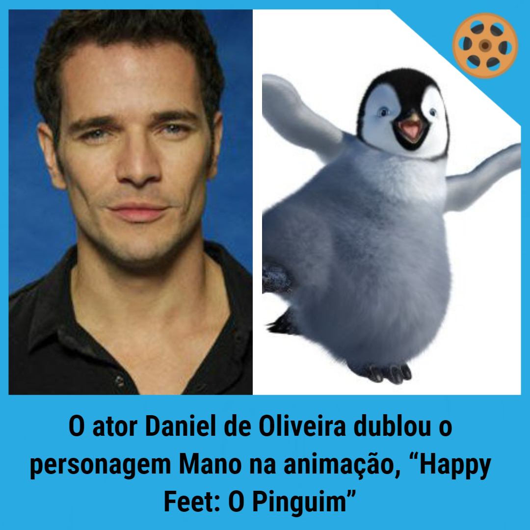 """⠀⠀⠀⠀⠀⠀  O ator Daniel de Oliveira dublou o personagem Mano na animação, """"Happy Feet: O Pinguim"""".   #cinefilos #nerdices #curiosidadesgeeks #nerdbrasil #mundogeek #eastereggs #muitoboatarde #cinema #bomdiapic.twitter.com/cLfNIeeR9O"""