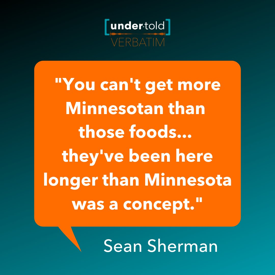 Our Under-Told: Verbatim podcast episode about Native American culinary traditions with Sean and Dana from @the_sioux_chef is streaming now!🎙️Listen on our website or wherever you get your podcasts. undertoldstories.org/2020/02/03/pod…