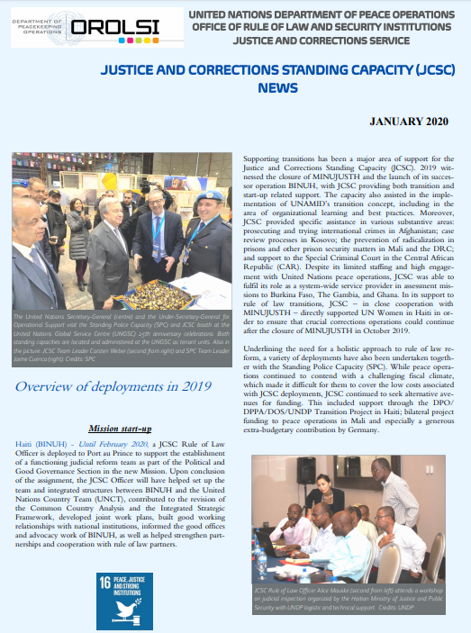📰 The 2020 Justice and Corrections Standing Capacity Newsletter is available now! Access the publication here ⤵️ https://t.co/fTHr91L7PV #RoL4Peace #A4P https://t.co/tA6c2SXVKG