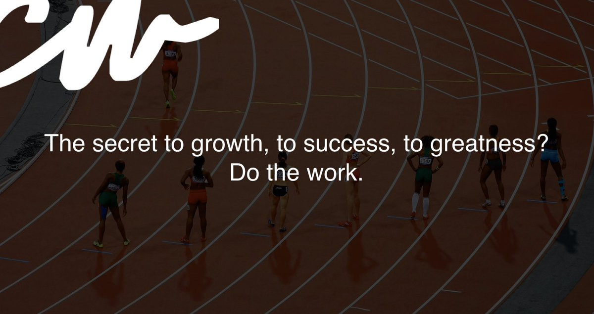 Stop chasing shortcuts. Do the work.