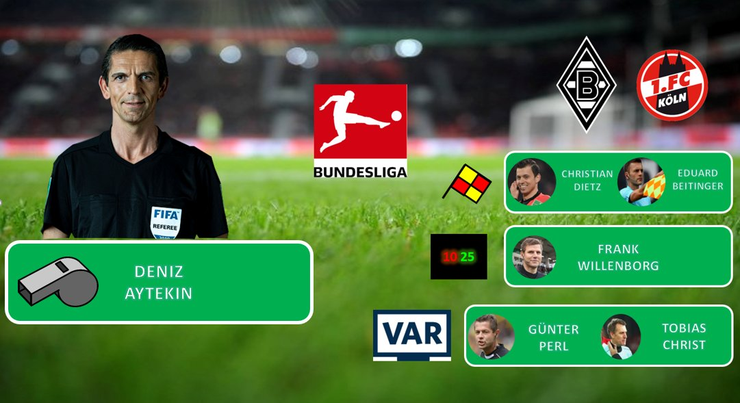 Bundesliga, 21.Spieltag   FIFA-Schiedsrichter Deniz #Aytekin aus Oberasbach leitet am Sonntag das Derby zwischen @borussia gegen @fckoeln.   Anpfiff ist um 15:30 Uhr ! @SkySportDE überträgt live !   #BMGKOE #Aytekin #Bundesligapic.twitter.com/Mio65A3935